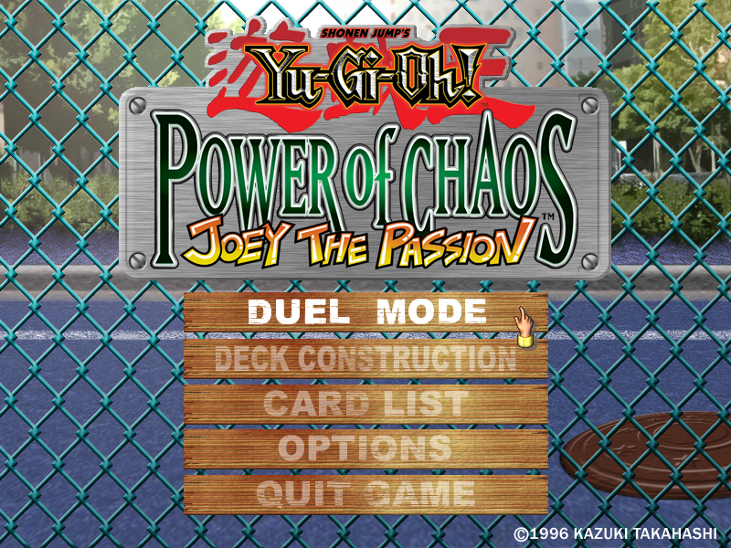 Yu-Gi-Oh! Power of Chaos: Joey the Passion Windows The third game begins.