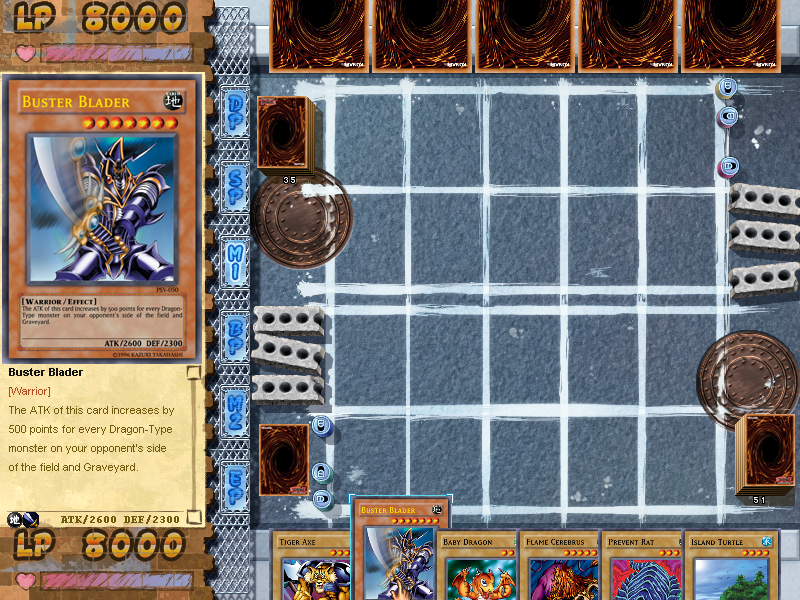 Yu-Gi-Oh!: Power of Chaos - Joey the Passion Windows The duel is ready to begin... as you can see, there's a street feel to this game.