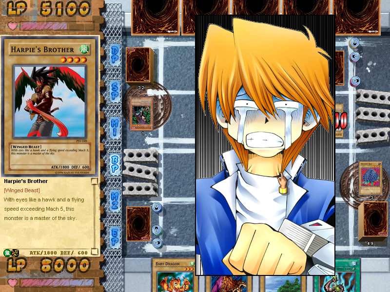Yu-Gi-Oh!: Power of Chaos - Joey the Passion Windows Joey doesn't like getting attacked.