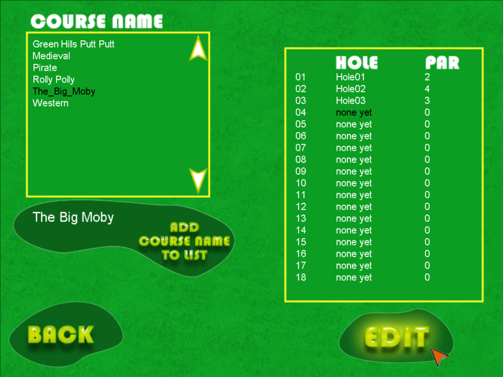 Ultimate Mini Golf Designer Deluxe Suite Screenshots For Windows Hole Diagram Creating Your Own Course Set The Title And Then Create Each