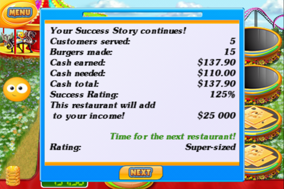 Success Story iPhone The stats at the end of the day