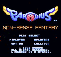 Parodius SNES Title Screen (PAL / European version)
