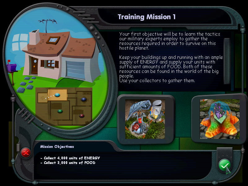Micro Commandos Windows Your mission objectives.