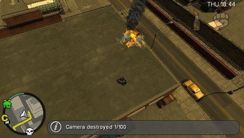 Grand Theft Auto: Chinatown Wars PSP Blew up a security camera - one of a legion