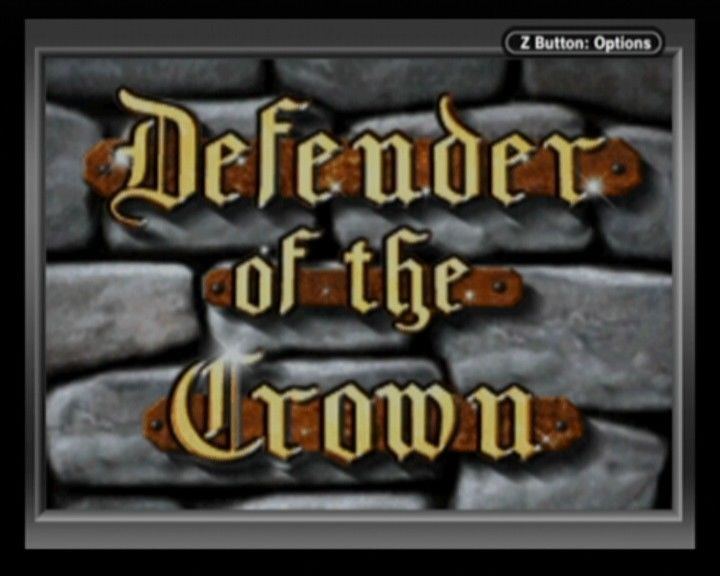 Defender of the Crown Game Boy Advance Main title screen.