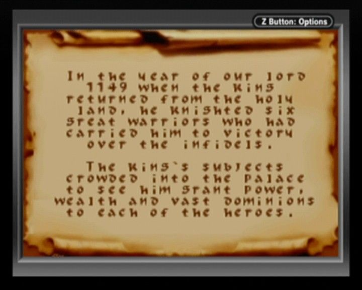 Defender of the Crown Game Boy Advance Prologue to the story.