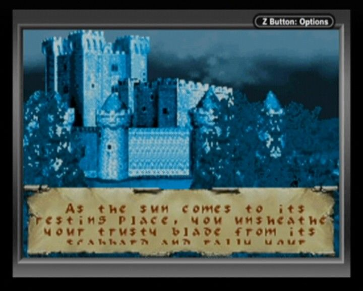 Defender of the Crown Game Boy Advance Raiding a castle is best during night time.