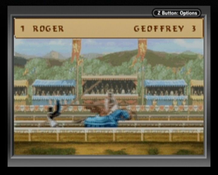 Defender of the Crown Game Boy Advance You must have a steady and precise hand to win jousting.