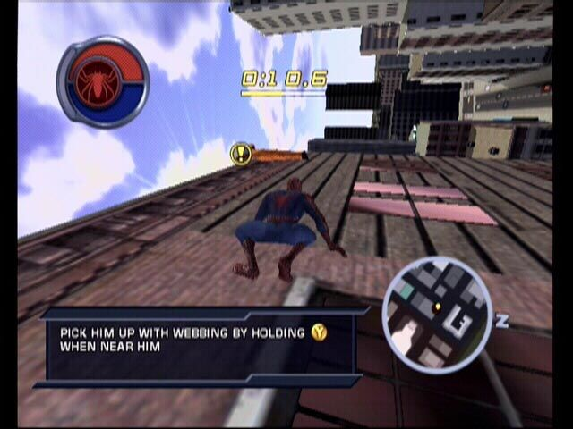 Spider-Man 2 Xbox Grab the man before he falls!