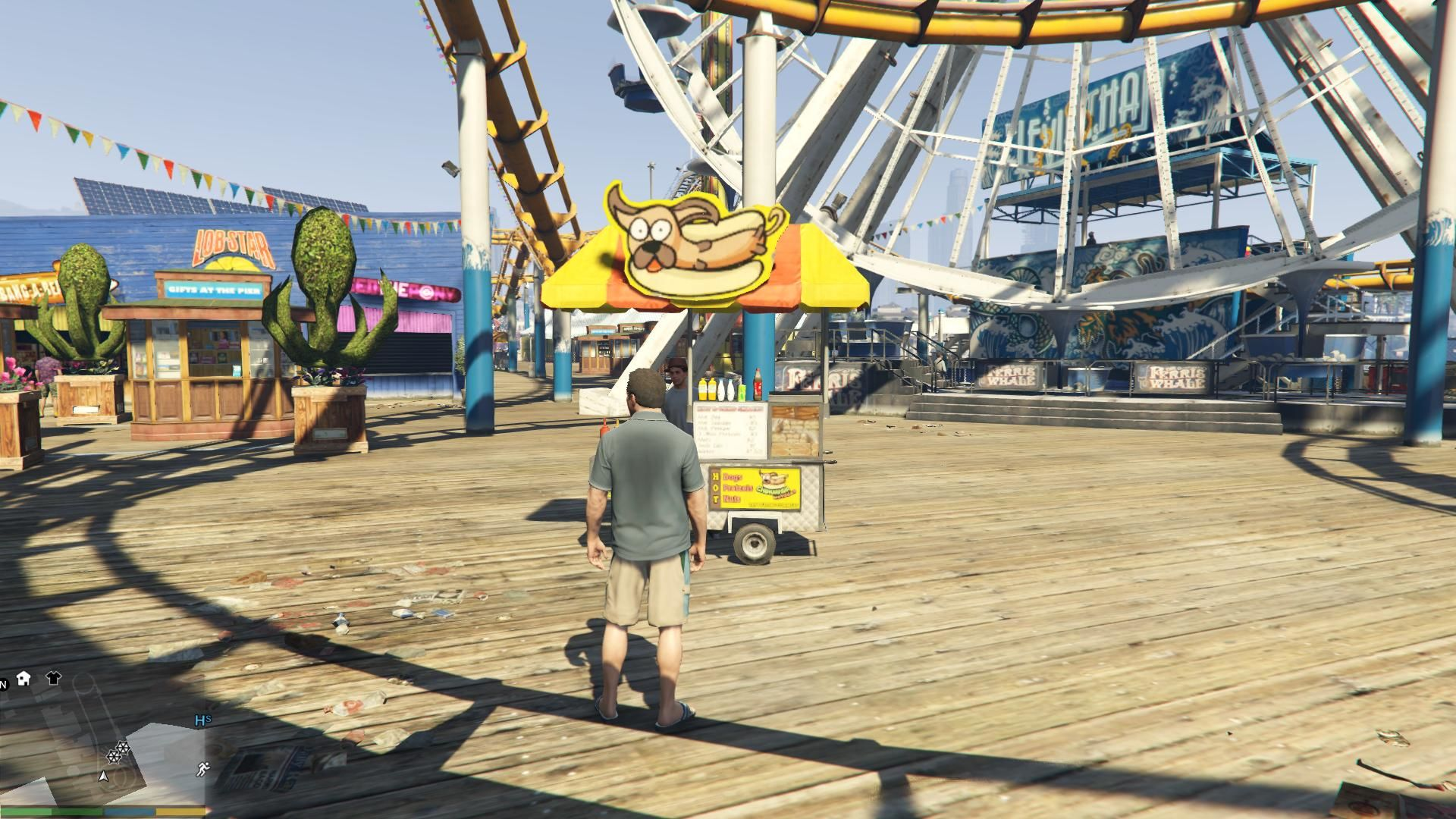 Grand Theft Auto V Windows To bad that I can't buy any hot dogs here