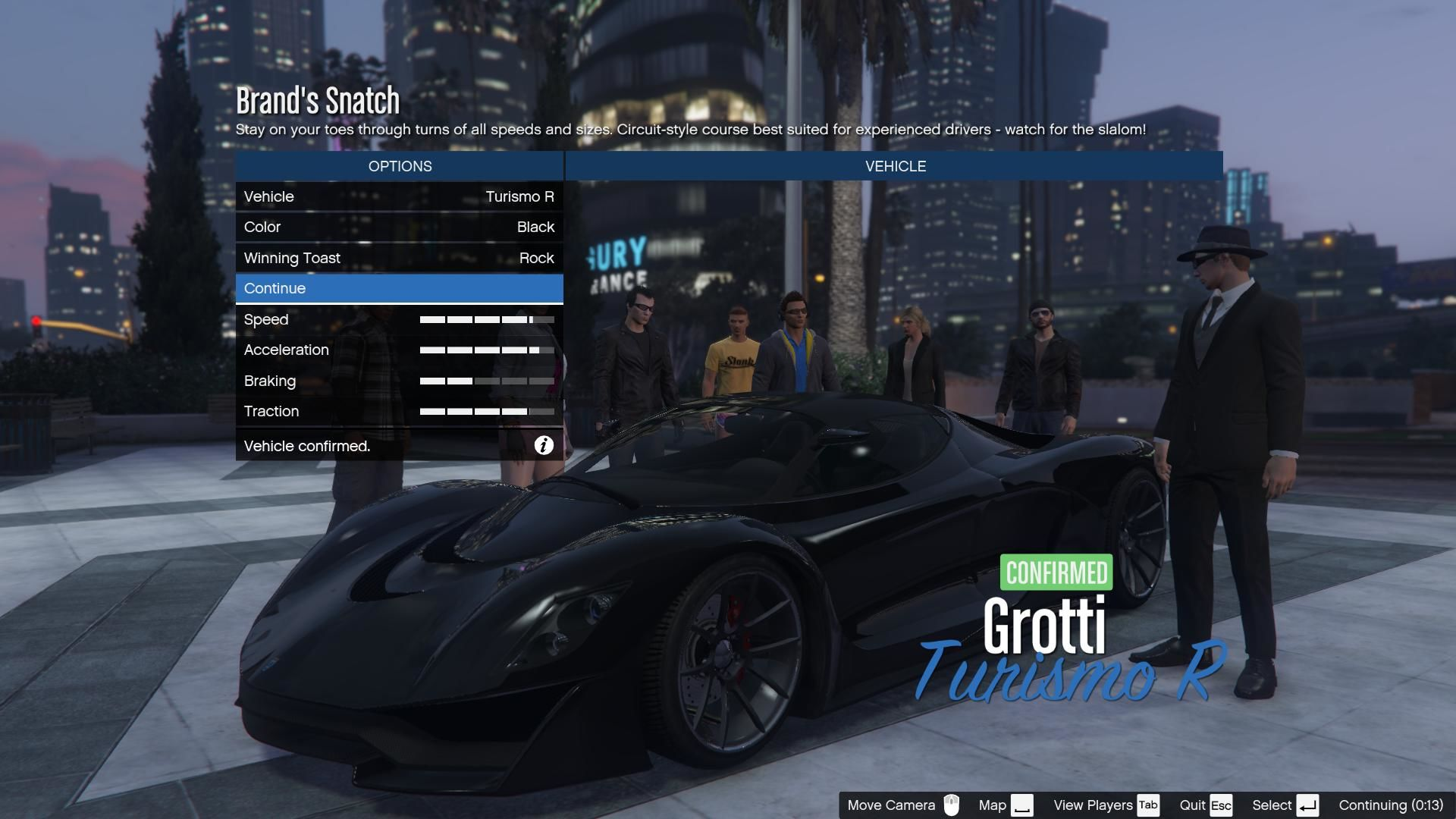 Grand Theft Auto V Windows Preparing for a multiplayer race