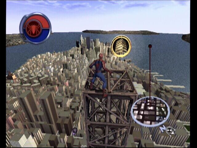 Spider-Man 2 Xbox A skyscraper token, found only on..... skyscrapers.