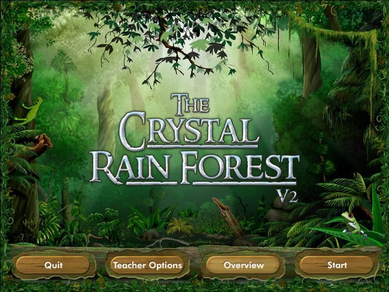 Crystal Rain Forest V2 Windows The game's title screen