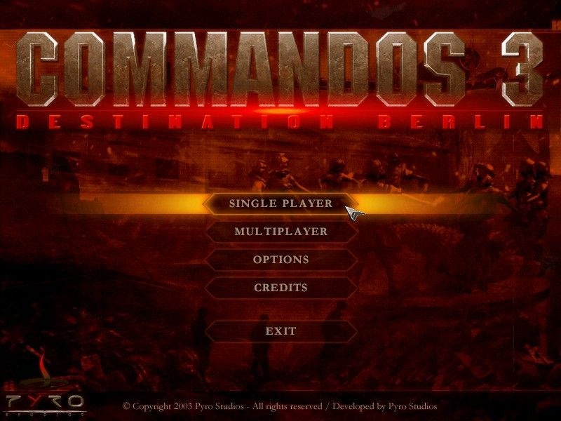 Commandos 3: Destination Berlin Windows Main Title / Main Menu