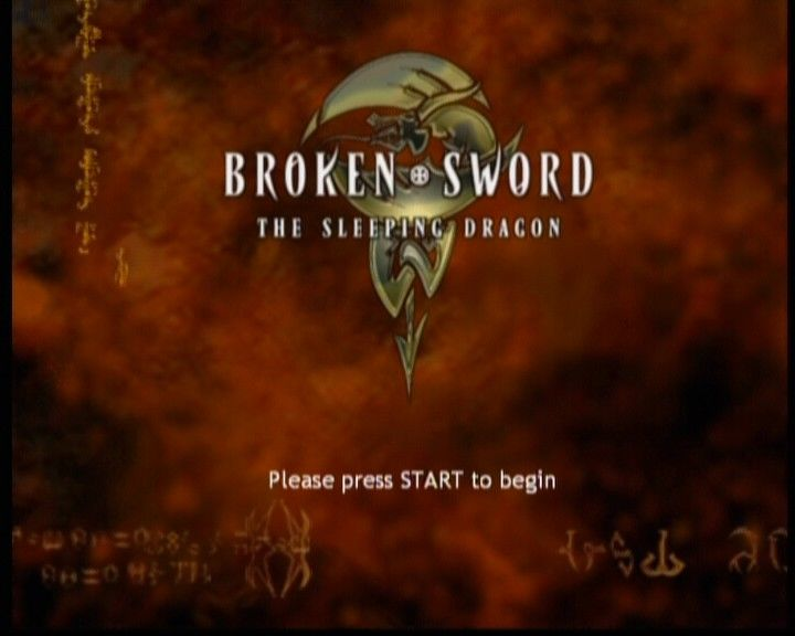 Broken Sword: The Sleeping Dragon Xbox Main title screen.