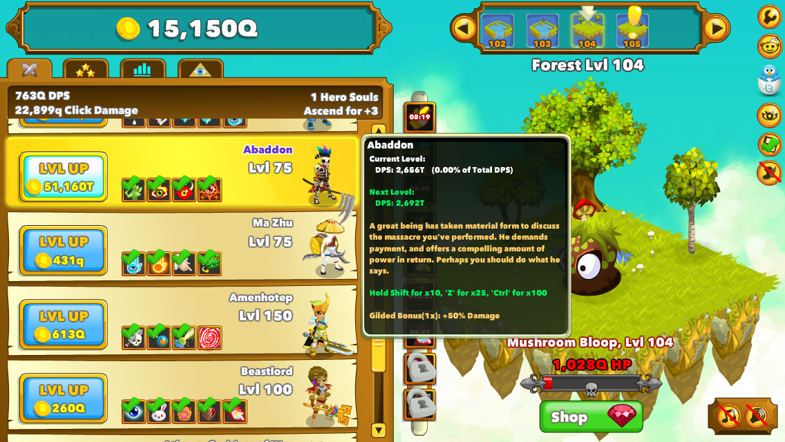 Clicker Heroes Screenshots for Browser - MobyGames