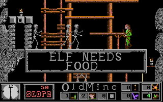 Elf Amiga Elf needs food