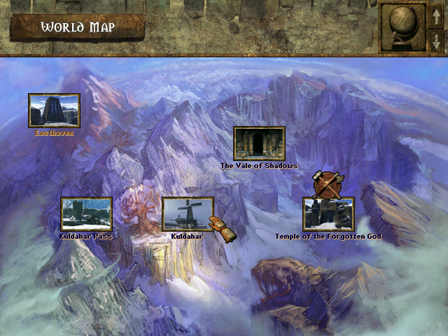 Icewind Dale Windows Use this map to jump from one location to another