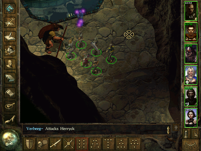 Icewind Dale Windows A wizard is summoning those big, heavy guys to fight my party