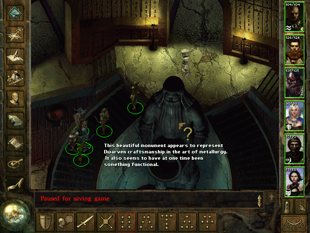 Icewind Dale Windows Some objects provide descriptions if you click on that interrogation mark