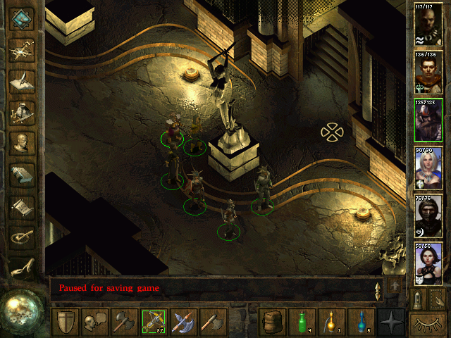 Icewind Dale Windows Another day, another hallway, another statue. This game pretty much keeps you in the dungeons all the time