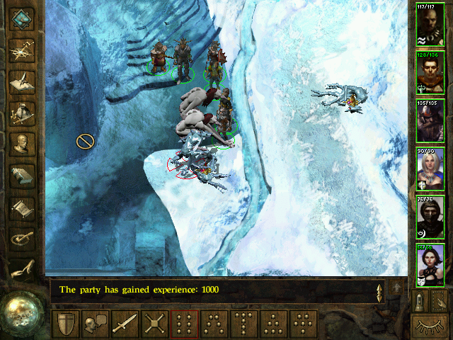 Icewind Dale Windows Outdoor areas are small and icy. I'm fighting two troll varieties here