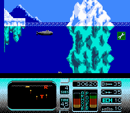 The Hunt for Red October NES In the Arctic waters