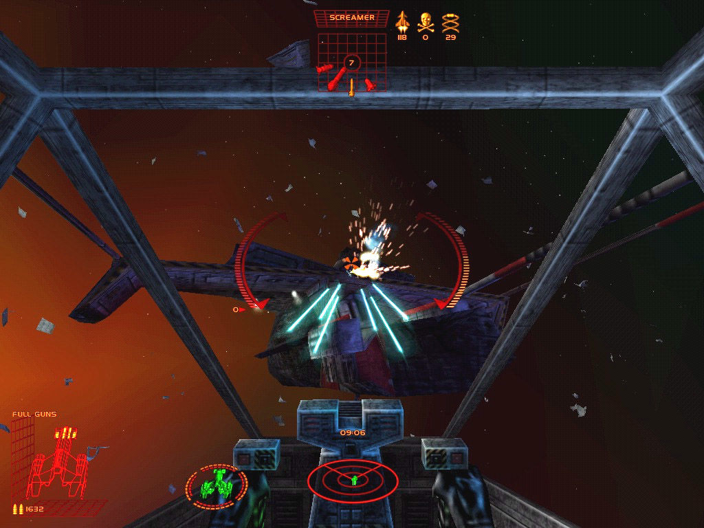 Starlancer Windows An In-gameScreen. Give'em hell boys!