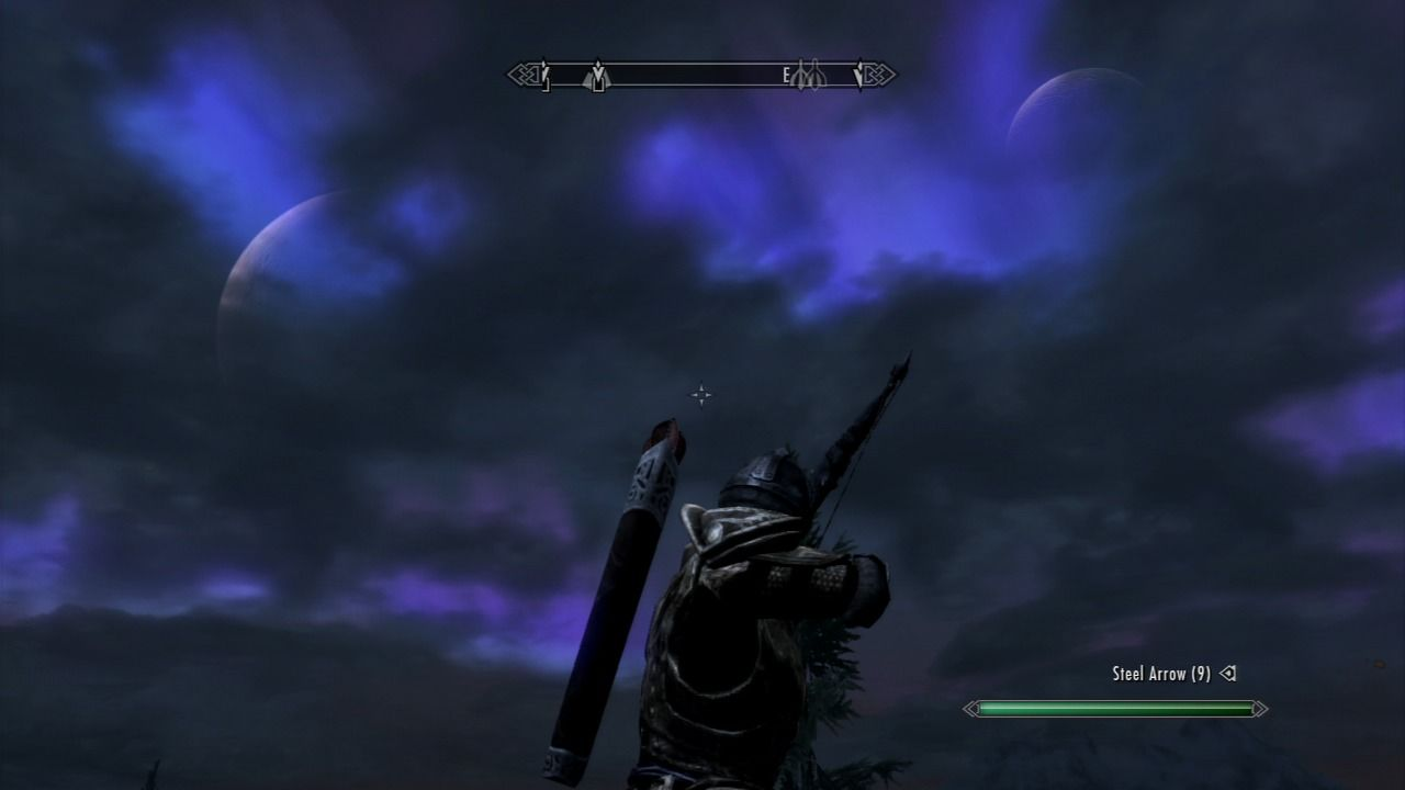 The Elder Scrolls V: Skyrim PlayStation 3 Beautiful night showing two moons