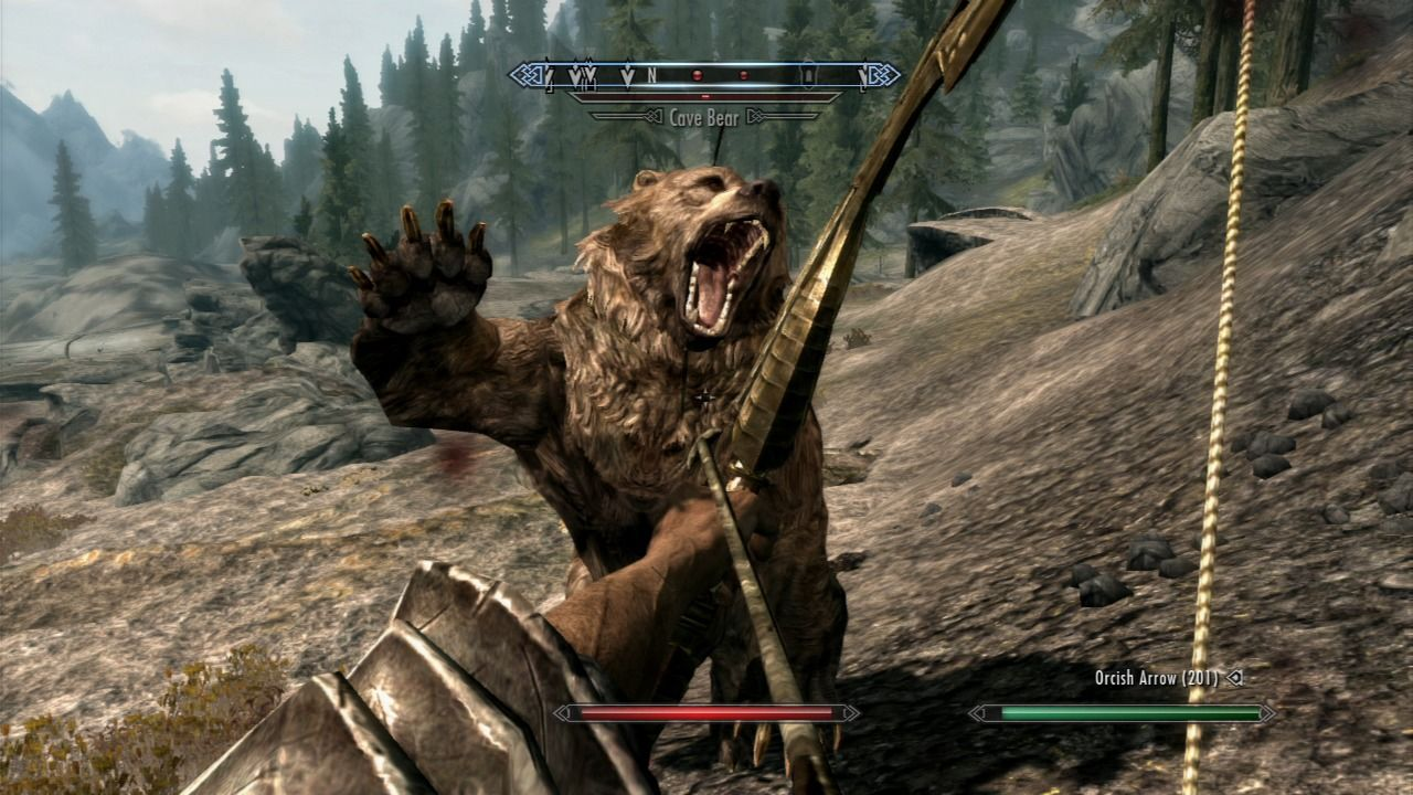 The Elder Scrolls V: Skyrim PlayStation 3 Close combat with the cave bear