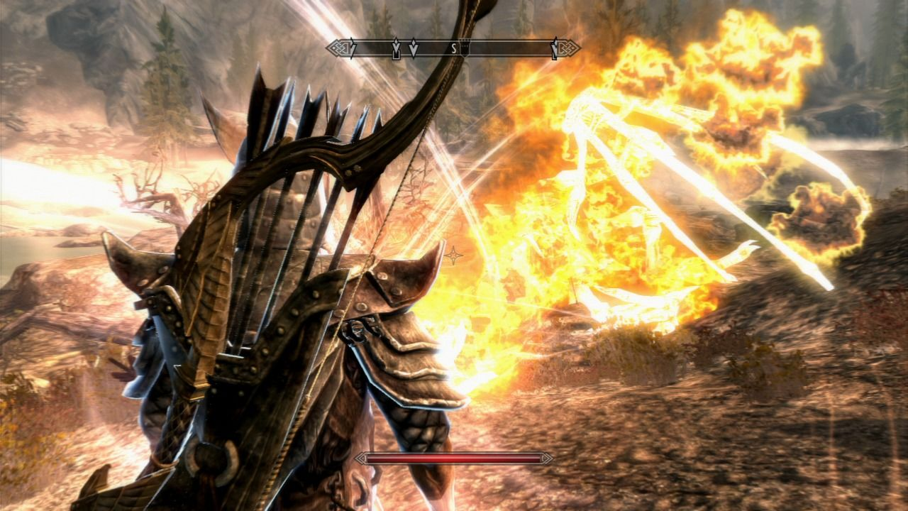 The Elder Scrolls V: Skyrim PlayStation 3 Defeating the dragon will make you absorb special powers as you are the Dragonborne