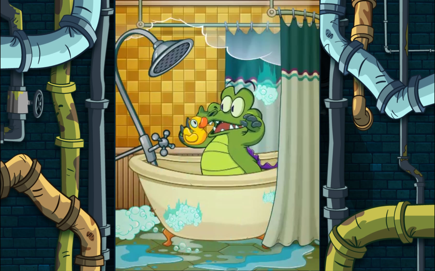 Swampy returns in an introduction sequence. He needs lots of water to shower.