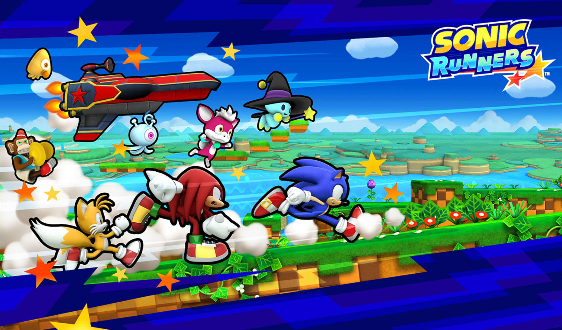 Sonic Runners Android Title screen