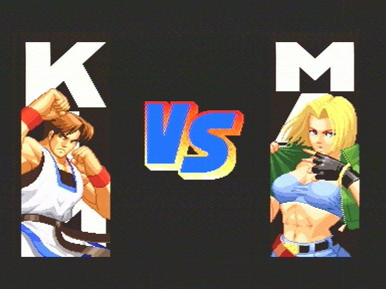 Real Bout Fatal Fury Special SEGA Saturn VS screen