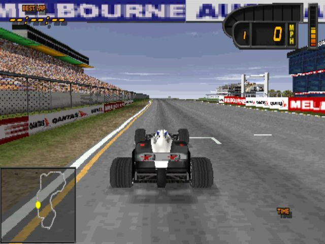 Formula 1 98 PlayStation On the starting grid at Adams Park, Melbourne in a McClaren