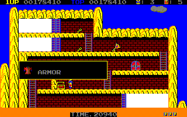 Knither: Demon Crystal II PC-88 Armor protects you from the flame of the Cracker weapon