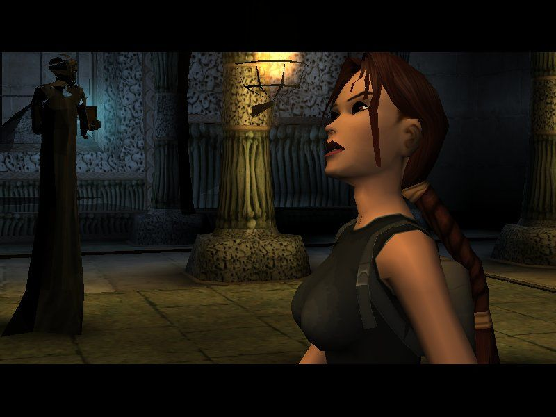 Lara Croft Tomb Raider: The Angel of Darkness Windows During cutscenes, you'll see her in different angles.