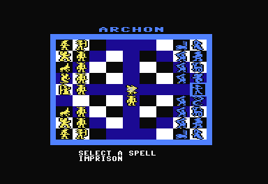 Archon: The Light and the Dark Commodore 64 Another difference from chess is the ability of the wizard and sorceress to cast spells.  Spells can heal, change time to take back a loss, resurrect a piece...