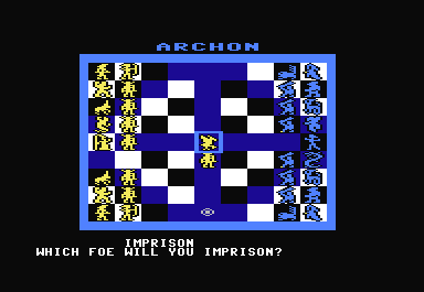 Archon: The Light and the Dark Commodore 64 After the phoenix killed the goblin, the sorceress cast a spell to freeze the phoenix, so that it could not move.