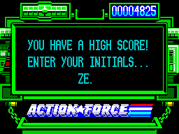 Action Force ZX Spectrum I have a high score! I can't believe it!!!