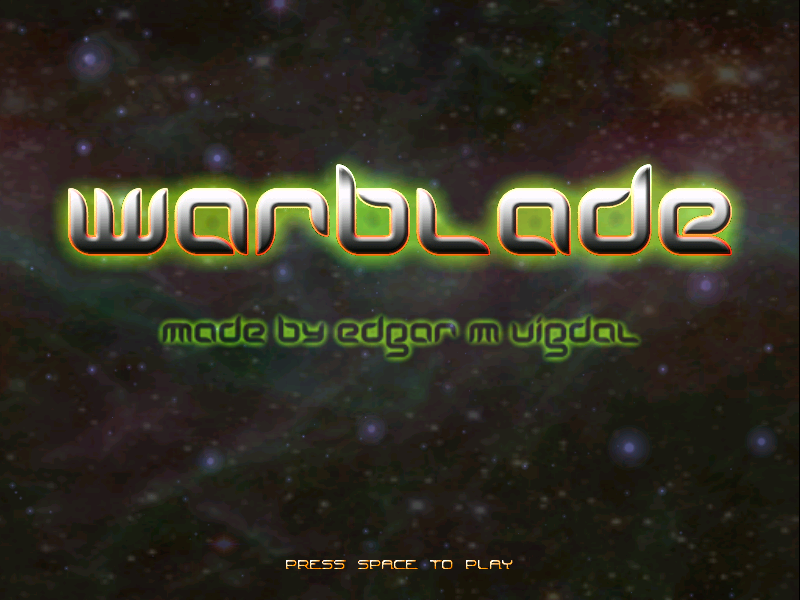 Warblade Windows Title screen