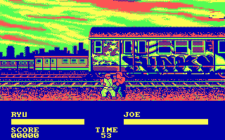 Street Fighter DOS Fighting Joe... (CGA)