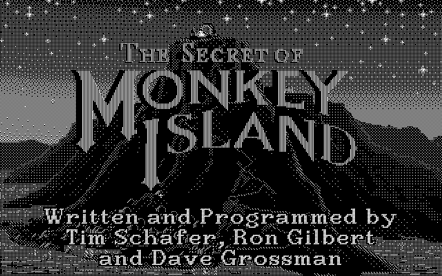 The Secret of Monkey Island Atari ST Title Screen (Hi-Res)