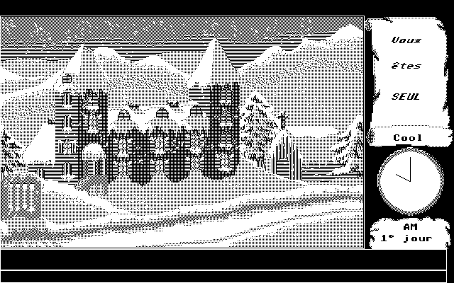 Mortville Manor Atari ST In Front of the Manor (Hi-Res)