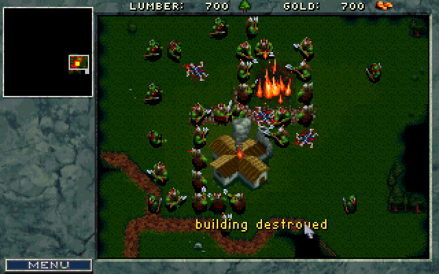 WarCraft: Orcs & Humans DOS I'm weak, please don't kill me