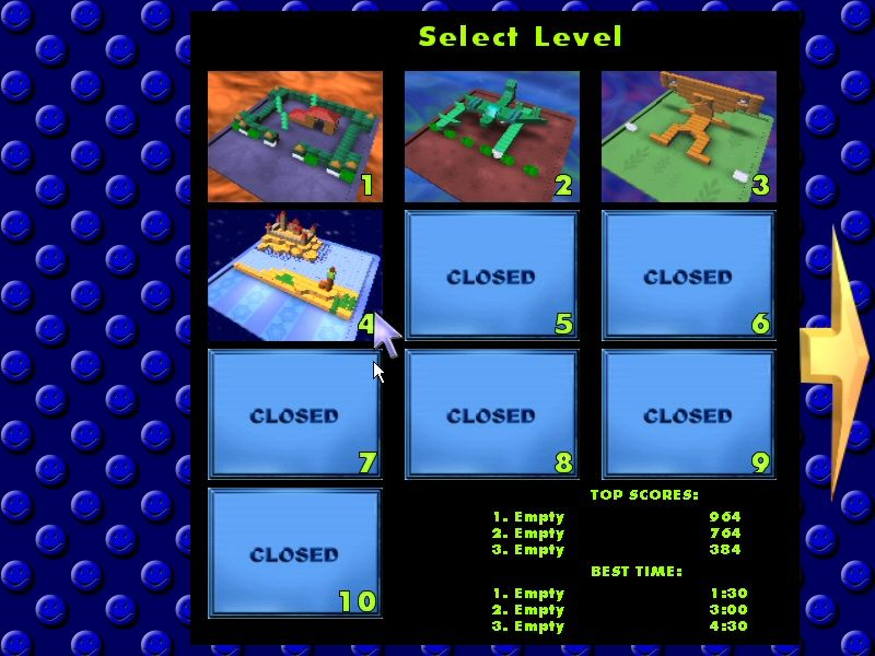 Alpha Ball Windows Level Selection