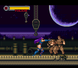 X-Men: Mutant Apocalypse SNES Psylocke's first stage