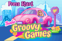 Barbie: Groovy Games Game Boy Advance Title screen