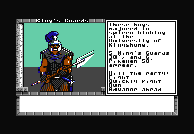 Dragon Wars Commodore 64 The guards' job is to contain you, and all the other lowlife, no-name riffraff.