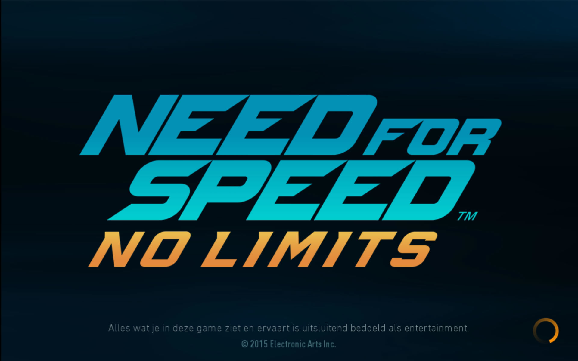 Need for Speed: No Limits Android Title screen